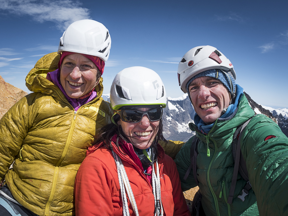 With ines and Thomas on the summit! I could not have had a better team! Photo: Thomas Senf