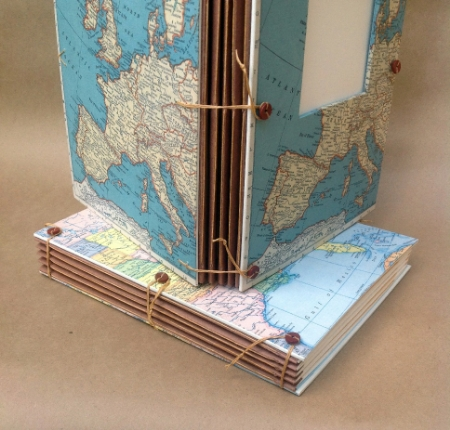 Handmade Travel Journal with Pockets and Envelopes