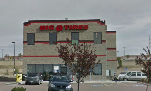 Josh Landess' store, Big O Tires, on Woodmen Road in Colorado Springs, CO