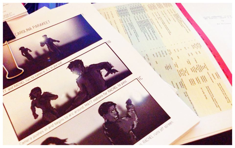 Storyboards and Shotlist for shoot day 3