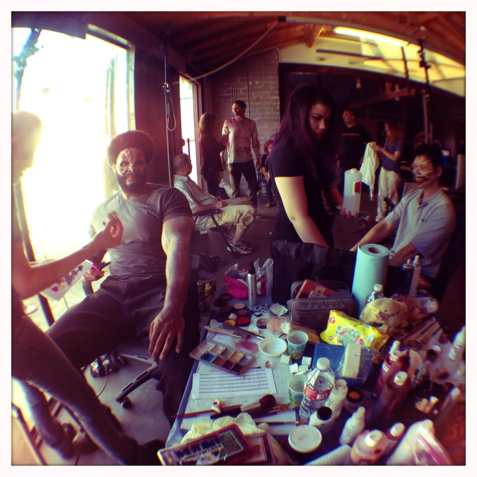Makeup FX crew on Shoot Day 4
