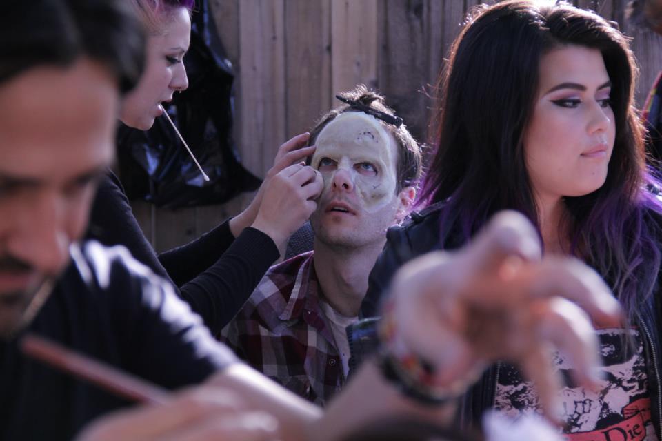 the Makeup FX crew hard at work