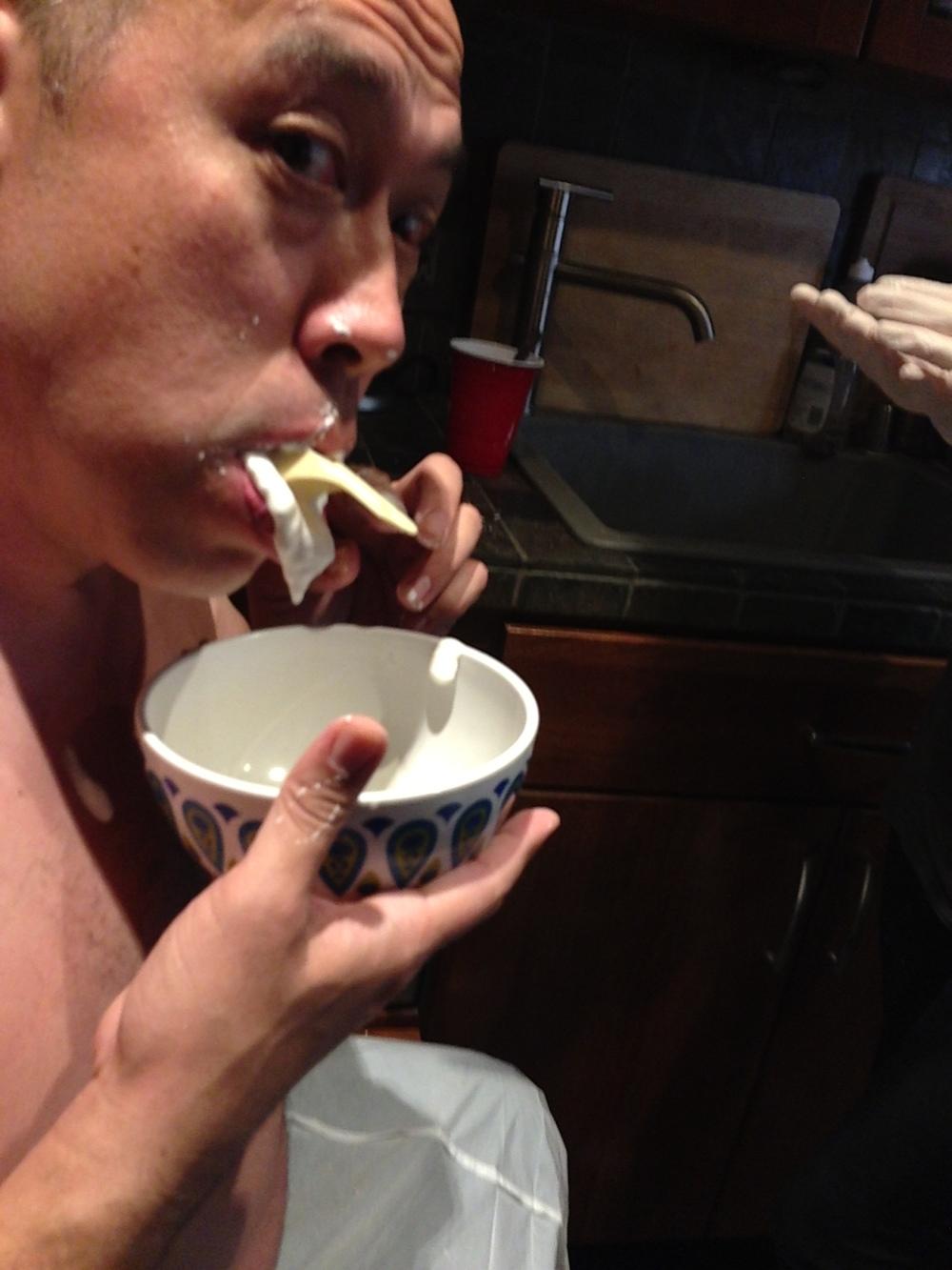 Feature Zombie and Stunt Choreographer Richard Dorton gets his teeth molded