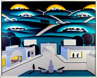 Roger Brown, See Seven Cities, 1971, Elmhurst College Art Collection