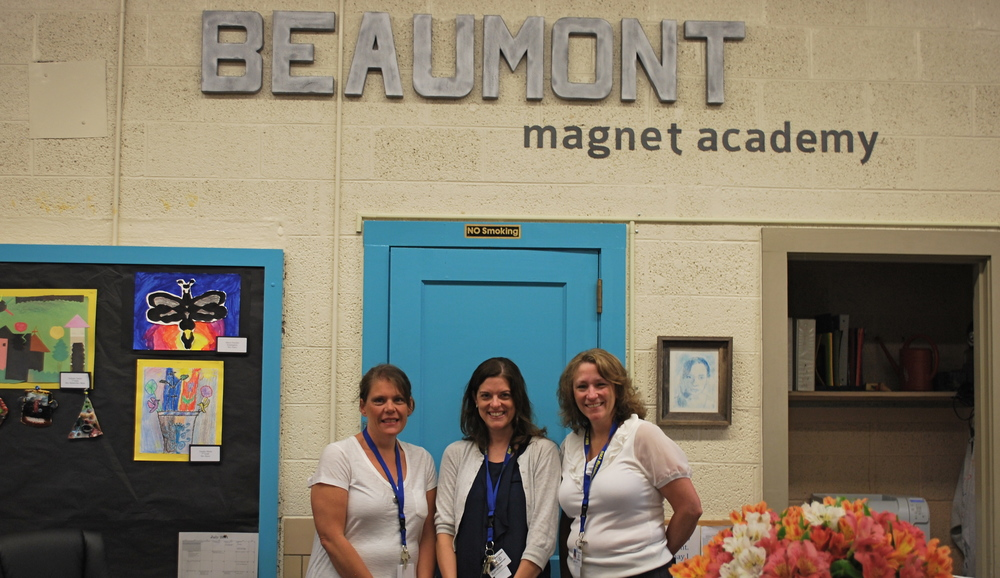 Ms. Tracy Marsh, Asst. Principal,  Dr. Daphne Odom, Co-Principal,  Missy Beltran, Co-Principal