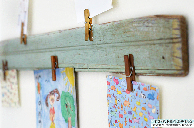 Clothespins are great for art display. & 10 Ways to Display Kids Artwork u2014 Help You Dwell