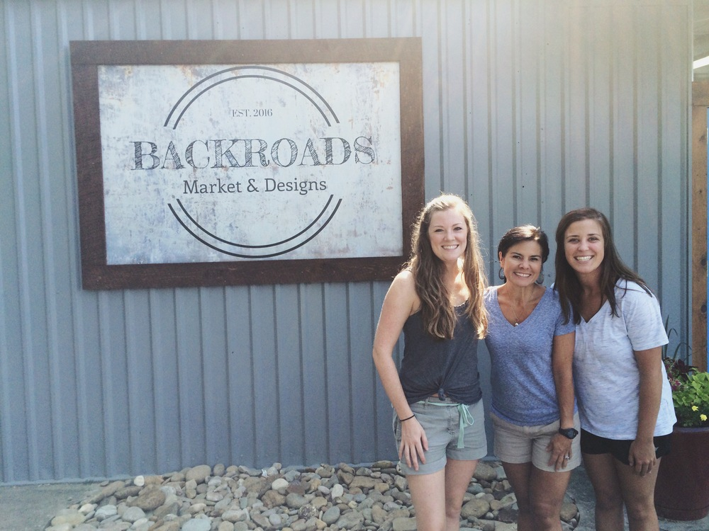 Caroline, BackRoads Market owner Kerry Myers, and Katie