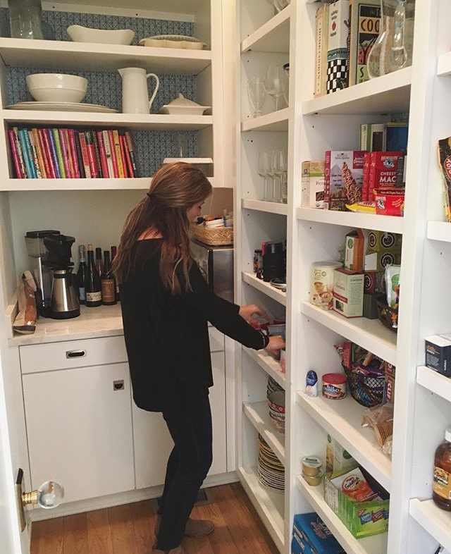 Katie working on a pantry