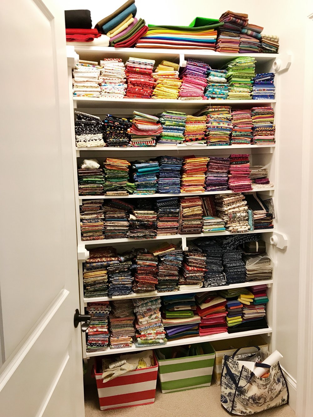 Quilting closet. Every quilter needs a palette