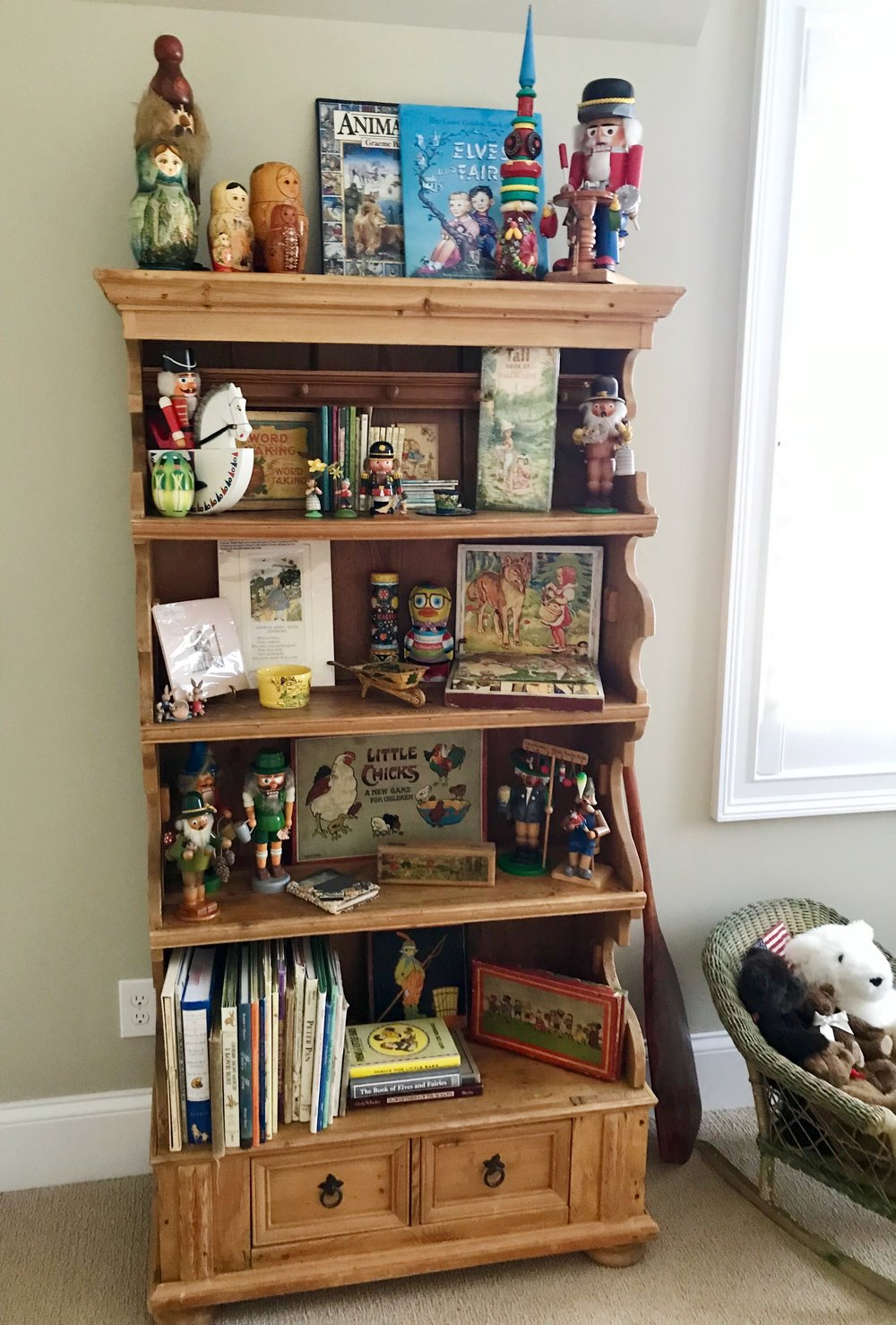 Collected vintage and antique toys and children's books from all over the world