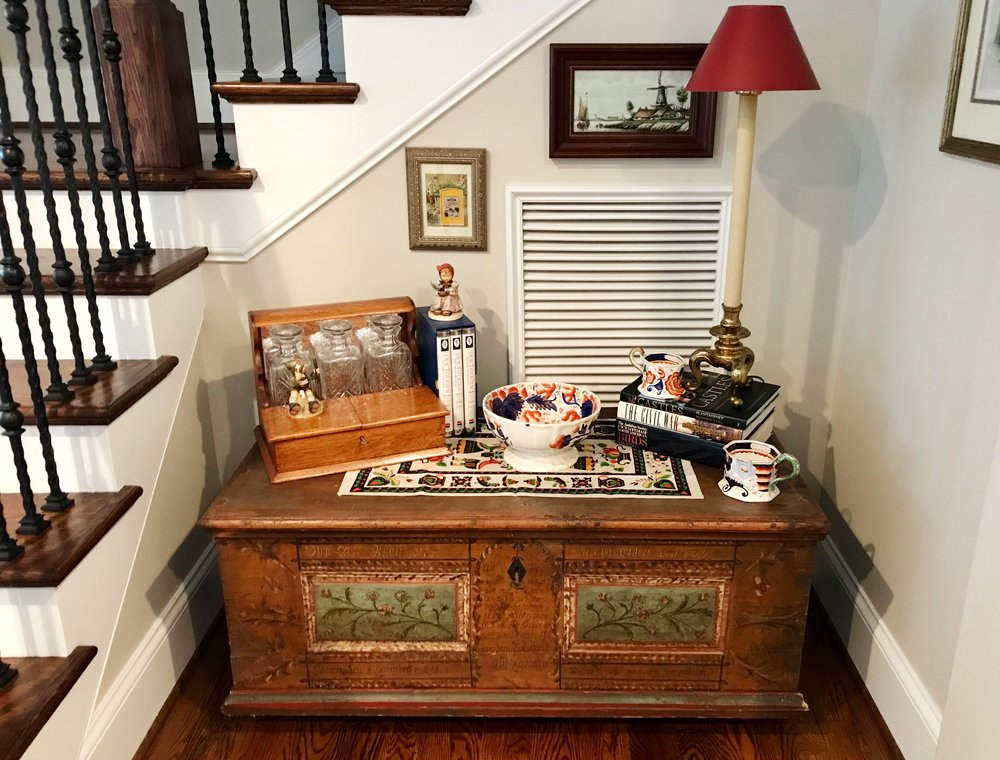 An antique wedding chest from Germany circa 1815.