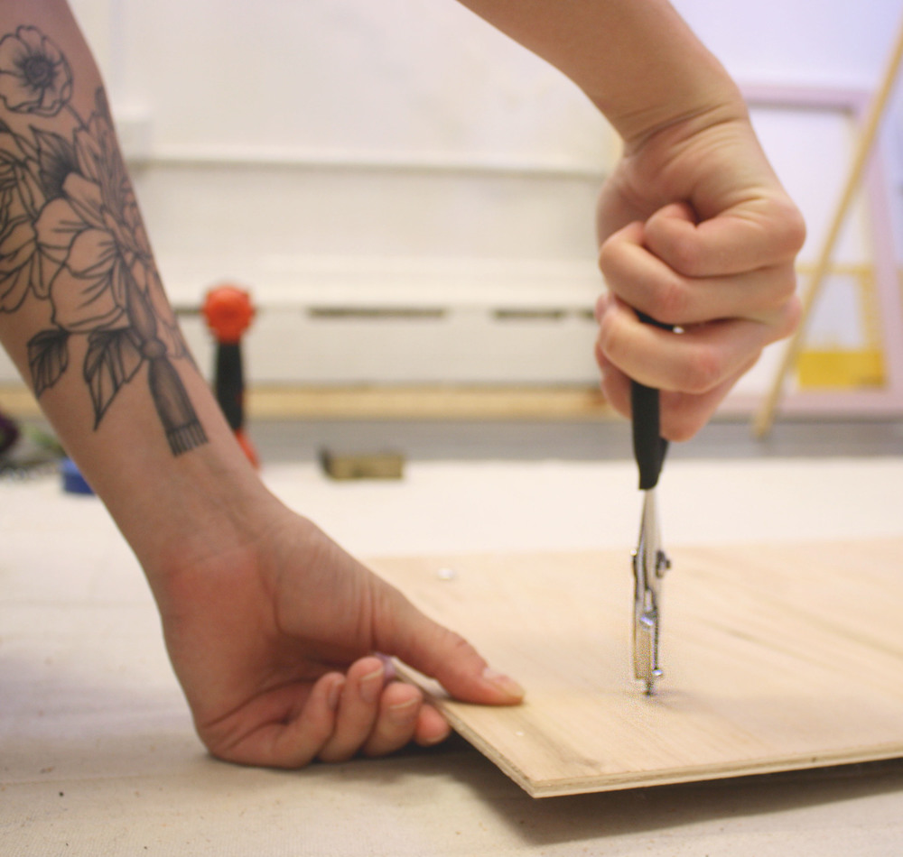 use pliers to make the bolt head flush with plywood