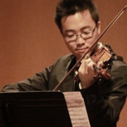 Dennis   is a classically-trained violinist with extensive experience in his field. Committed to education and sharing his passion for music, he focuses on performance technique and expression when he teaches beginning, intermediate and advanced students. His enthusiastic teaching style has fostered a love of music for both children and adults, providing quality instruction based on the student's goals and interests. Many of his students have eventually participated in various prestigious     youth symphony groups such as   California Youth Symphony  (CYS),   California Philharmonic Youth Orchestra   (CPYO),  Peninsula Youth Orchestra   (PYO), and   El Camino Youth Symphony   (ECYS).    As an experienced violin teacher, he believes that establishing a profound foundation is the key to a successful musical performance. Dennis' goal is to build up students' confidence and love about the violin. He is a patient, encouraging teacher.     Pursuing B.M. in Violin Performance from San Francisco State University.
