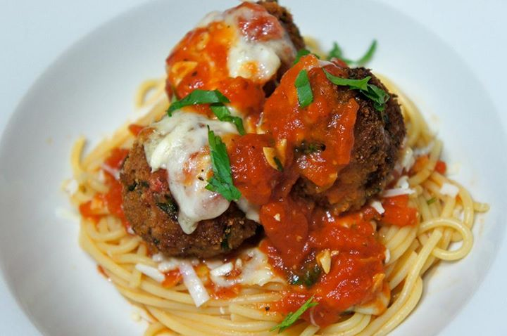Meatball Parmesan with Tomato Sauce