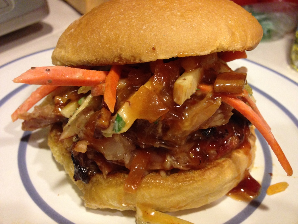 Pulled Pork with Waldorf Slaw