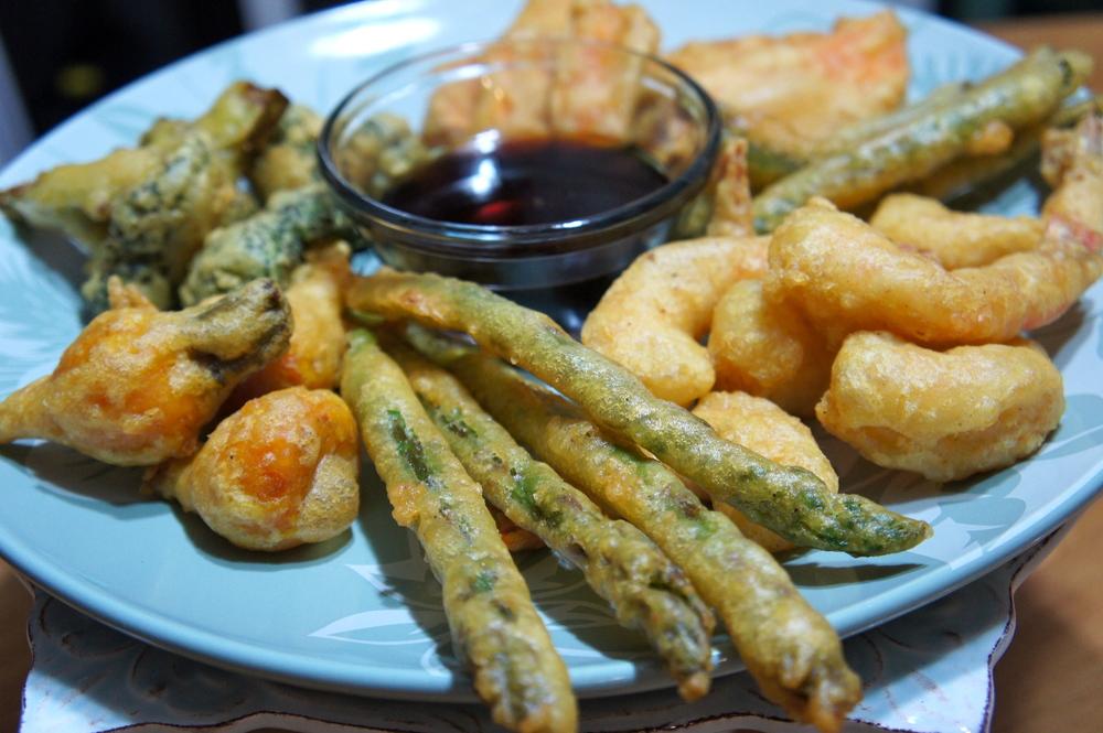 Veggie and Shrimp Tempura with Ponzu Sauce