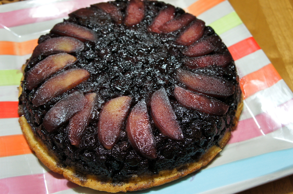 Apple Blueberry Upside-Down Cake