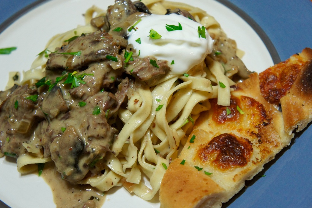 Ultimate Beef Stroganoff with Crispy Flatbread