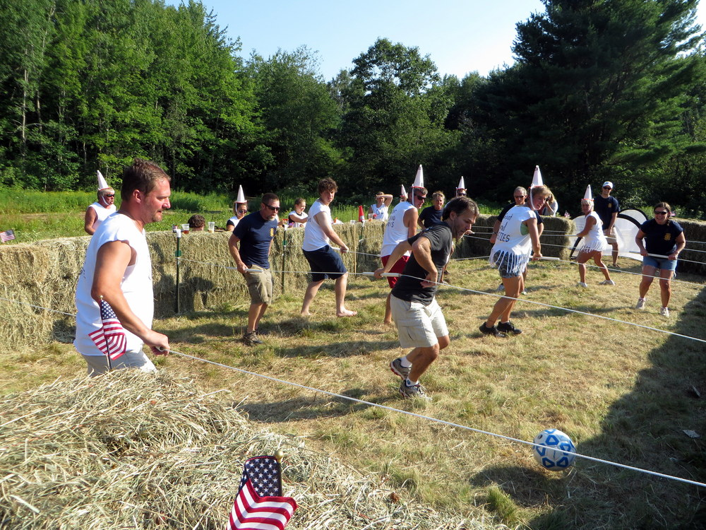 The Action is fierce between the Goat Island Coasties & the Kennebunk Rotrary Club.JPG