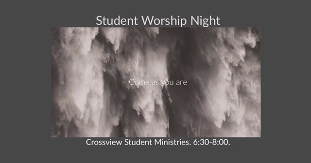 Worship night tomorrow night!! 6:30-8. Hope to see you there!