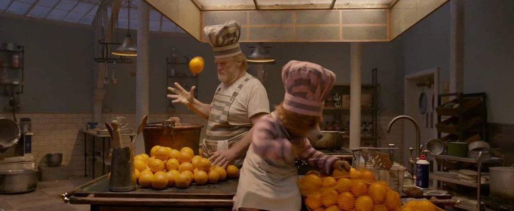 Paddington 2. Marmalade making.Courtesy of Heyday Films.Production Design Gary Williamson. Set Decoration Cathy Cosgrove.