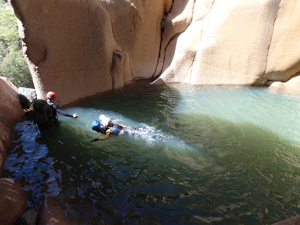 Salome Creek (Grotto Pool) Canyon - Canyoneering, AZ