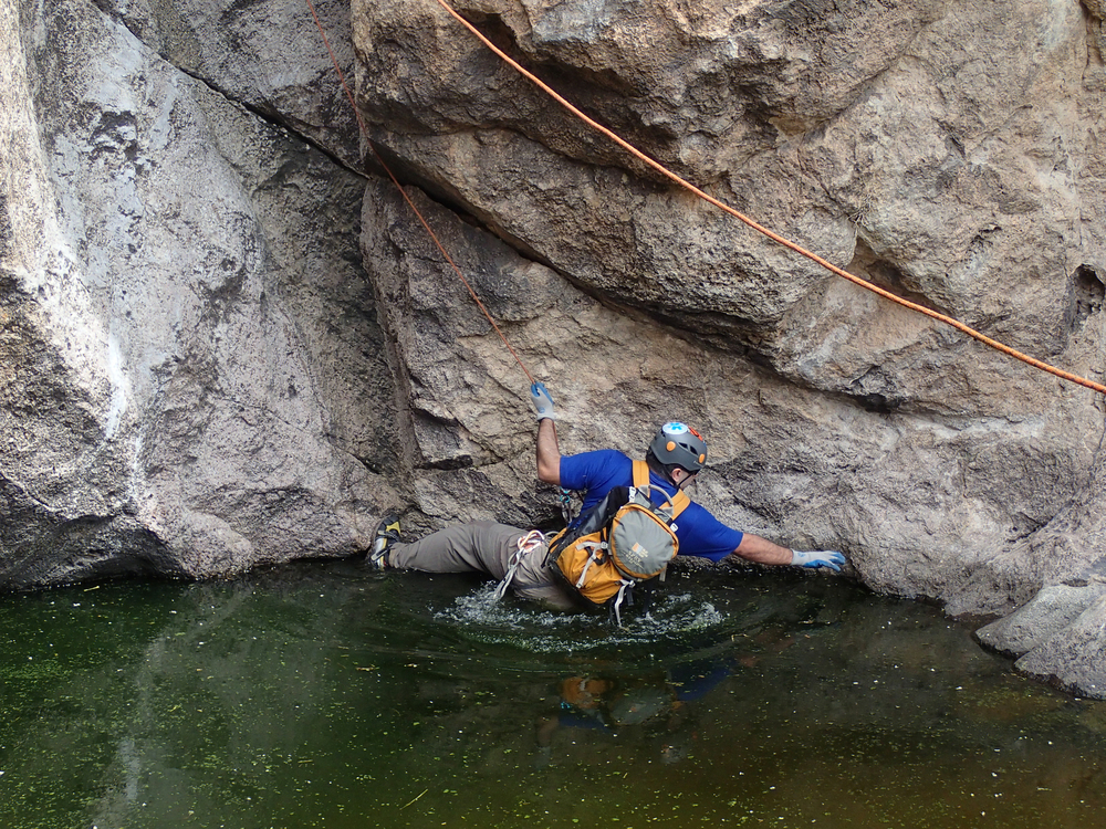 Splash Down Canyon - Canyoneering, AZ