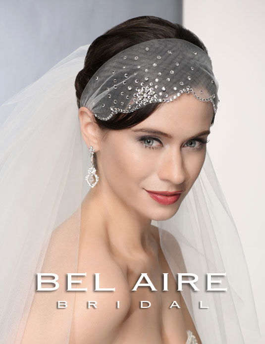 6374 Scalloped rhinestone headwrap