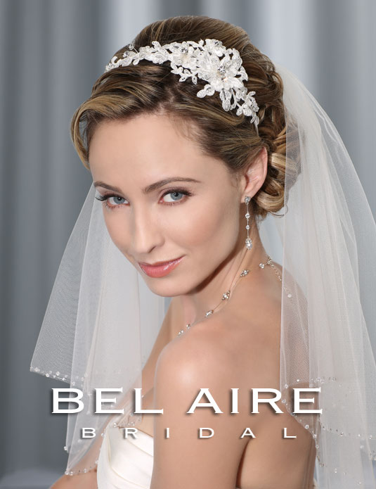 6335 Alençon lace headband