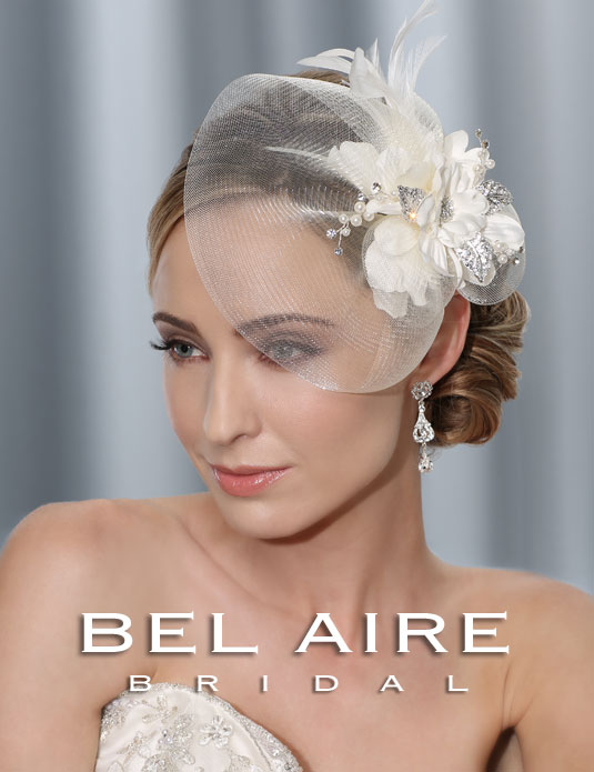 6336 Horsehair brim fascinator