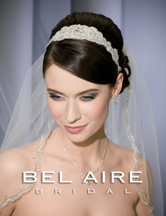 6161   Beaded tie headband