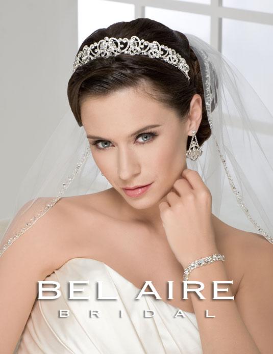 6210 Elegant baguette tiara