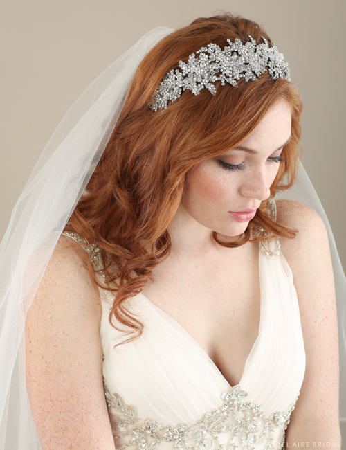 6611 Rhinestone-encrusted dramatic headband