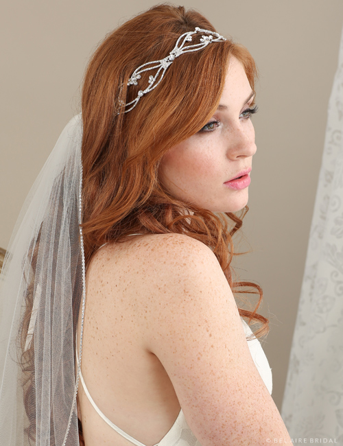 6622 Open rhinestone design tie headband