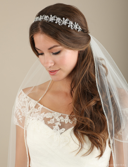 6623 Rhinestone flower and swirl headband