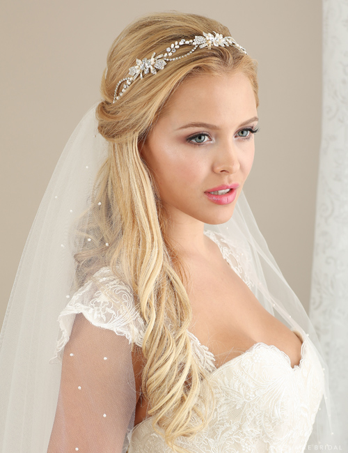 6633 Pearl and rhinestone headband