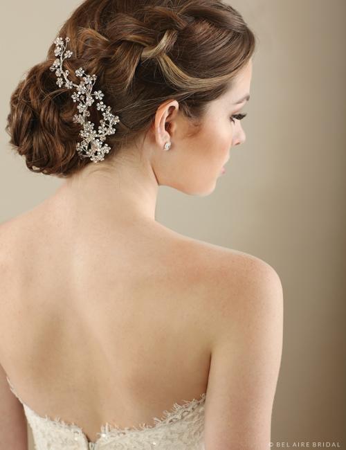 6644 Sparkling crystal flower clip