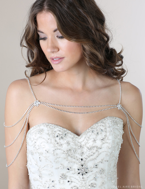 SH206 Rhinestone strand shoulder jewelry