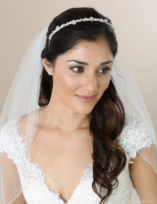 6555   Pearl and rhinestone headband