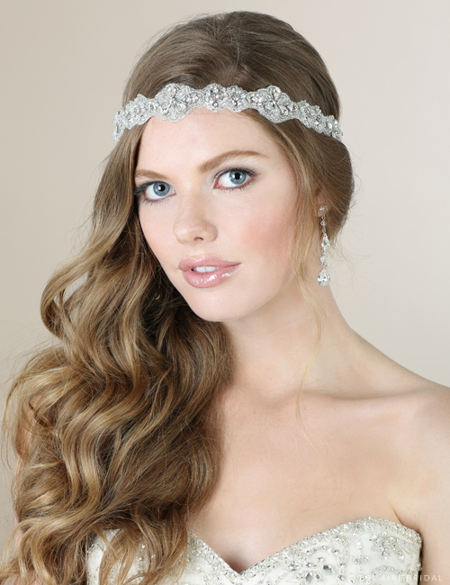 6562   Dramatic beaded tie headband