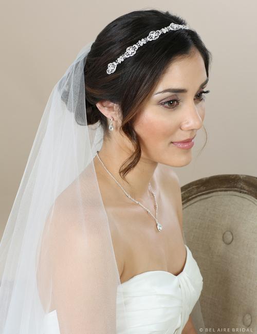 6585   Delicate rhinestone motif headband