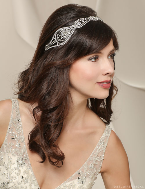 6501   Art Deco rhinestone headband