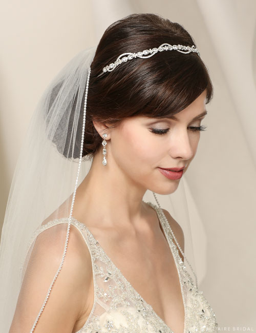 6507   Rhinestone ribbon headband