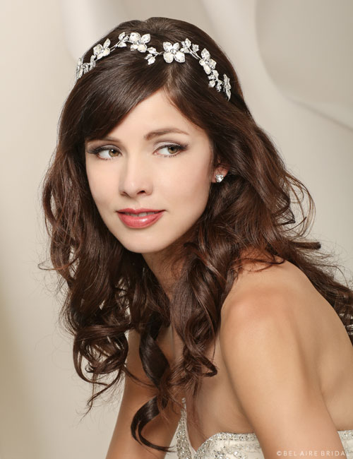 6516   Wavy headband of softly painted flowers