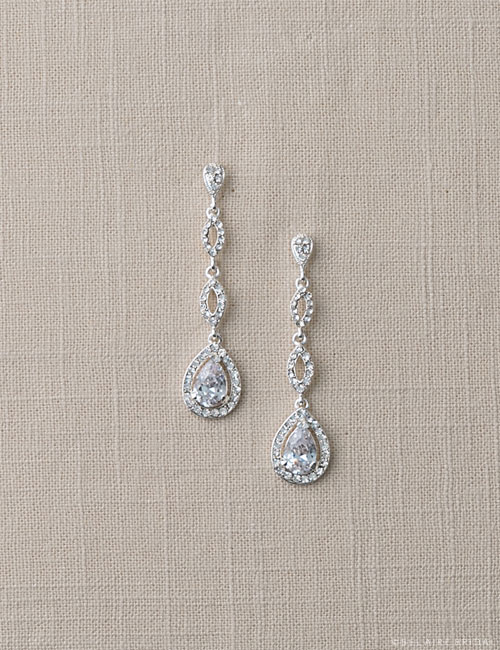 EA232 Rhinestone drop earrings