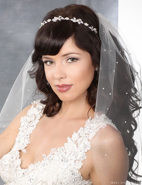 6404 Pearl and rhinestone headband
