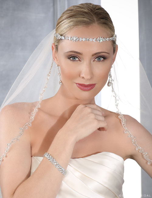 6414 Narrow rhinestone headband