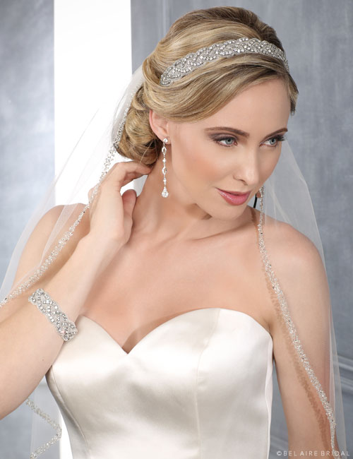 6426 Rhinestone and beaded headband