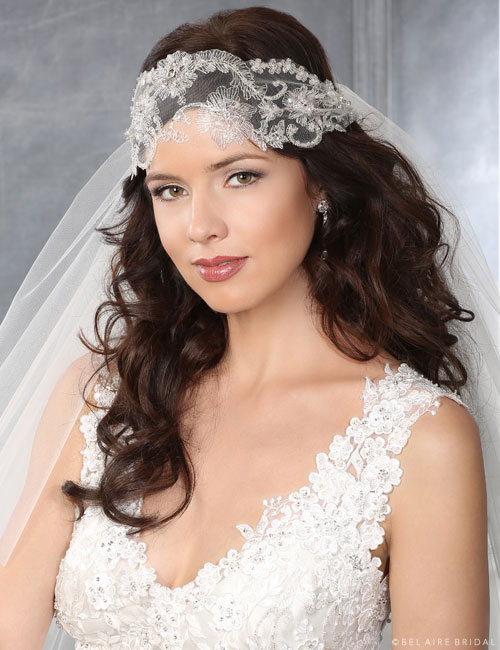 6434 Embroidered vintage headwrap