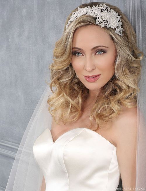 6428 Alençon lace headband